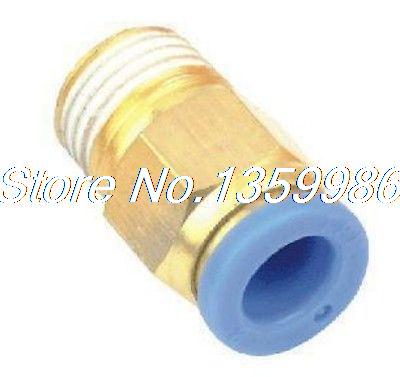 100pcs  6mm to M5  Pneumatic Connectors male straight one-touch fittings BSPT uxcell 10 pcs m5 male thread to 4mm 5 32 pneumatic tube hose mini barb fittings