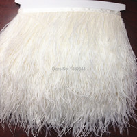 Wholesale! 10 m 4 5 inch 8 13cm wide natural white ostrich feathers, ribbons feather fringe trim feather
