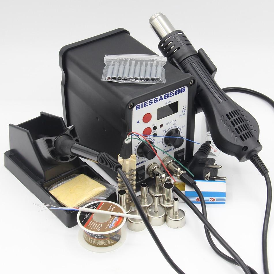Riesba 8586 2 w 1 stacja lutownicza SMD stacja lutownicza stacja lutownicza na gorące powietrze narzędzie na produkty elektroniczne narzędzia do lutowania