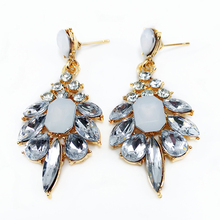 LNRRABC 2PCS Pair Hot Hyperbolic Women Lady Girl Precious Stone Earrings  Crystal Eardrops Formal Dress Accessories 09c8da601036