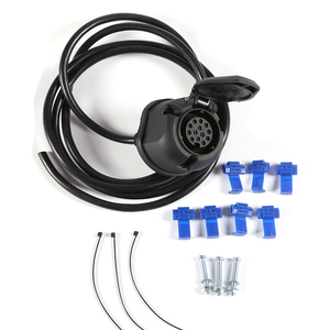 Image 2 - AOHEWEI prewired 13 pin core way towing  trailer socket  harness with 2 meter 8 pin cable wire 13 pin trailer adapter connector