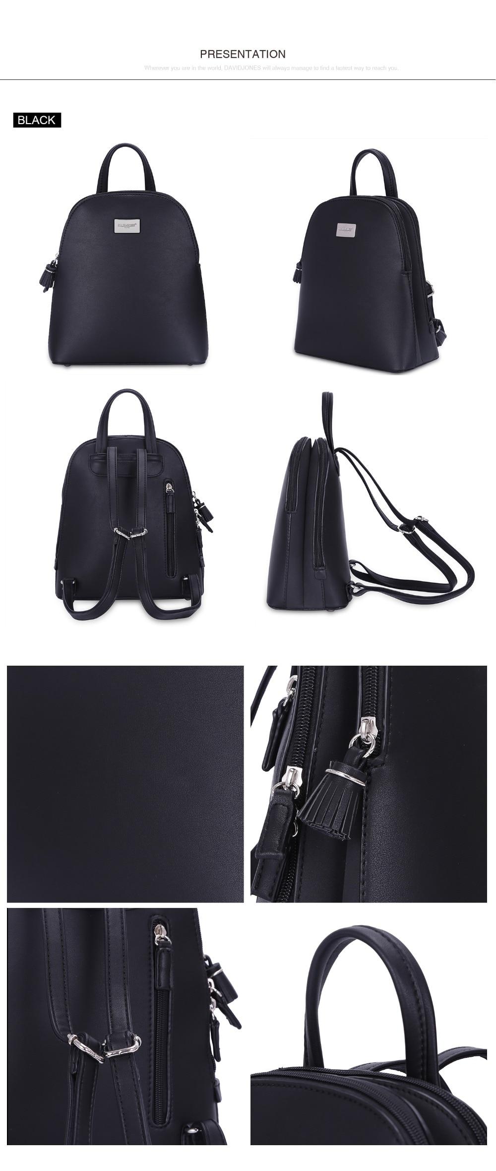 77922d0bd DAVIDJONES mochilas de mujer de imitación de cuero bolsos de hombro ...