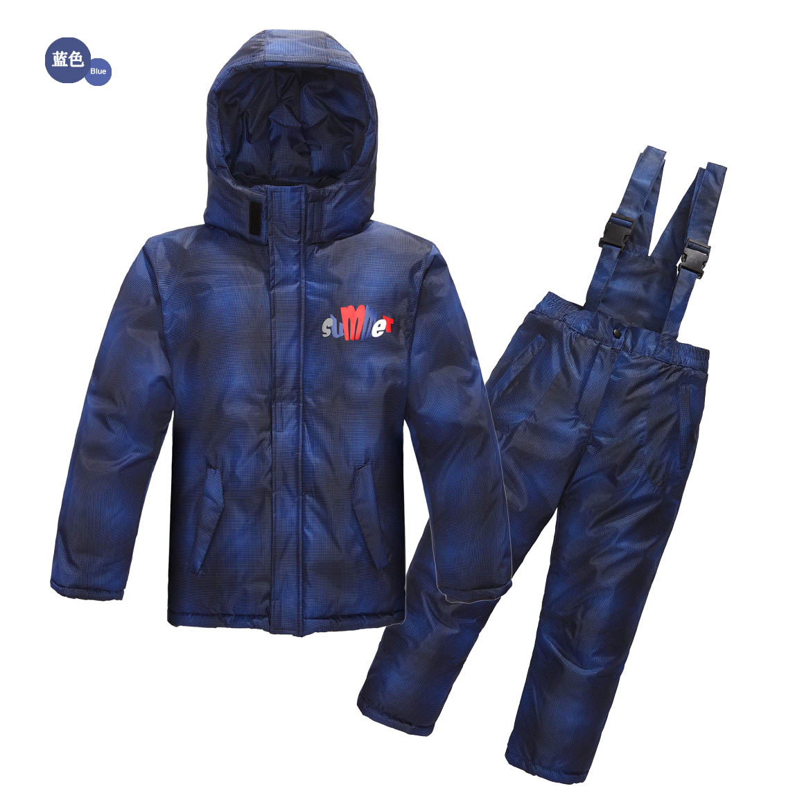 ФОТО CLEARANCE Outdoor Ski Suit 2016 Boys Warm Suit Kids Winter Clothing Set skiing Jacket+Pants Russian Winter -20-30 Degree