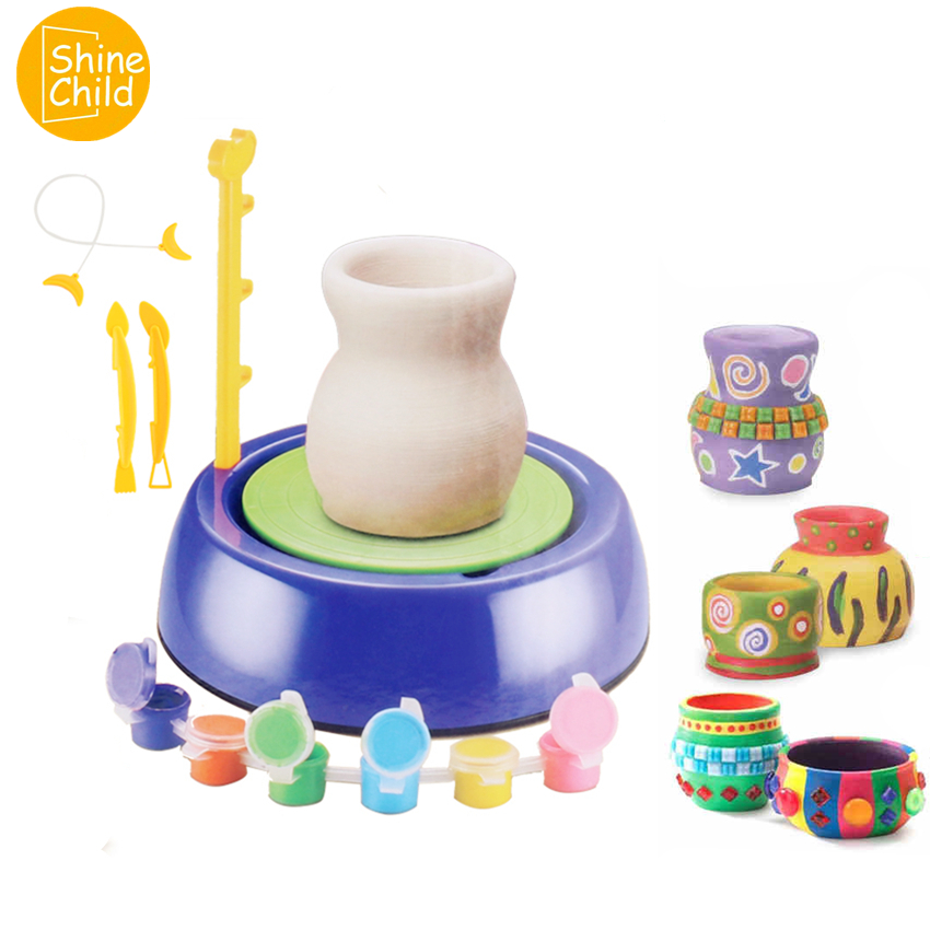 DIY Colors Fimo Pottery Jar Soft Clay Container Safe Modelling Polymer Clay Naturally Dried Plasticine Coloring Kit Tools Toys