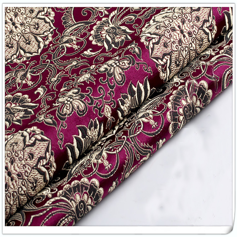 Brocade Fabric Damask Jacquard America style Apparel Costume Upholstery Sofa Cushion Curtain Garment home textile patchwork