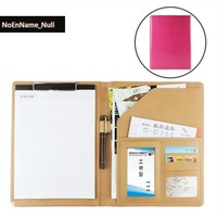 Flash sale stationeries A4 holder size folder paper ring binder documents business leather cover clip board office products