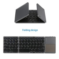 Foldable Bluetooth Keyboard Pocket Size Portable with Touchpad Rechargable Li ion Battery for iOS Android Windows PC Tablet