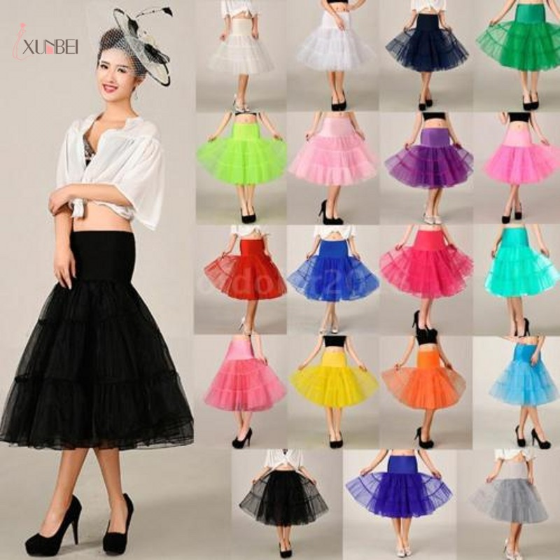 Woman Black Wedding Bridal Petticoat Crinoline Short Tulle Skirt Underskirt Rockabilly Tutu Wedding Accessories Jupon Mariage