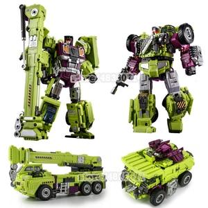 Image 5 - JINBAO Deformation New Devastator Toys Transformation GT Robot Trucks Car Oversize Excavator Crane Model Action Figure Toys
