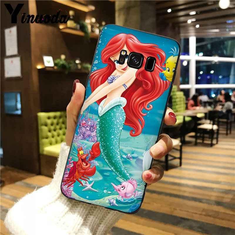 Yinuoda Putri Ariel Little Mermaid Putri Salju Warna-warni Smart Cover Ponsel Case untuk Galaxy S5 S7 EDGE S8 PLUS S9 plus S6