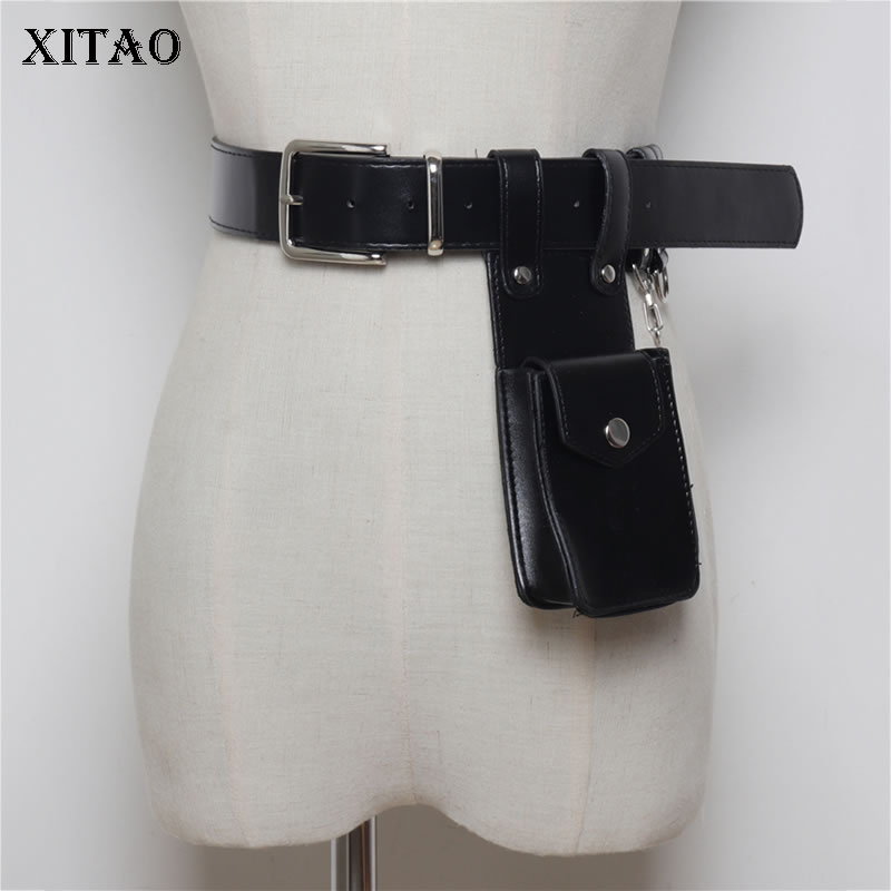 XITAO Women Cummerbunds Korea Fashion Dark Fashion 2019 New Concave Shape Street Shoot Multi Function Belt Pockets  WBB4334