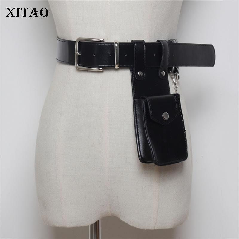 XITAO Women Cummerbunds Korea Fashion Dark Fashion 2019 New Concave Shape Street Shoot Multi Function Belt Pockets  WBB4334