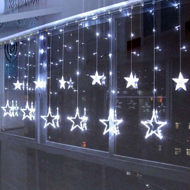 Luces De Navidad Para Exteriores. Cortinas Led De Navidad Color