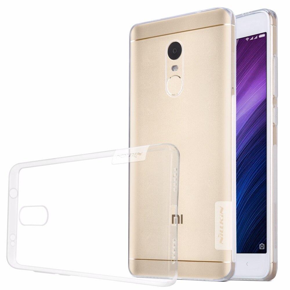 Цена за 10 шт./лот Оптовая NILLKIN Природа ТПУ Чехол Для Xiaomi Редми Примечание 4X (5.5 '') мягкий Силиконовый Ясно Телефон Обложка Бесплатная Доставка