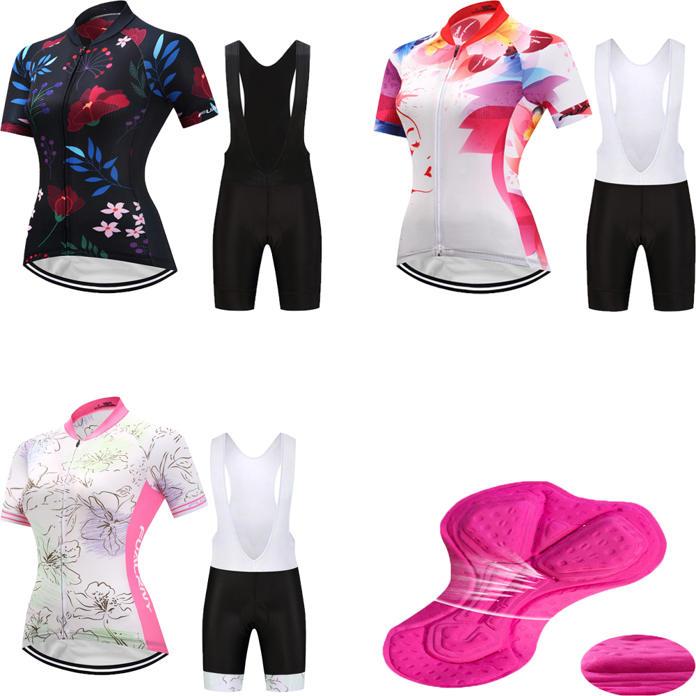 Summer cycling jersey women short sleeve set 2018 mountain bike clothing lady sport bicycle clothes kit mtb dress skinsuit wear 44pcs set mountain bike patchs maintenance repair box diagnostic tools kit valuables cycling chain case bicycle accessories