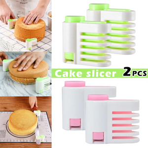 2 Pcs 5 Layers DIY Cake Bread Cutter Bread Slice Layered Auxiliary Kitchen Tool Fixator decorating Tools Holder(China)
