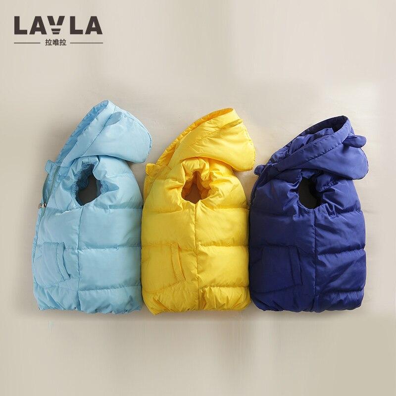 LAVLA 5-6T Kids Vest Baby Girls Waistcoat 80% Duck Down Vests Warm Kids Boy Outerwear Coats Boys Winter Vest Children Clothes