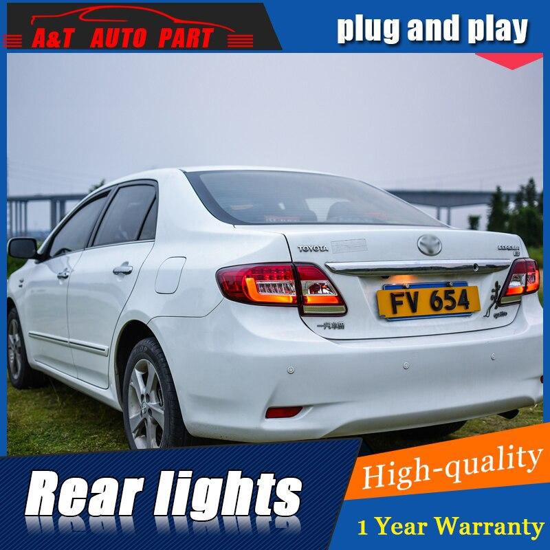 Автомобильный Стайлинг светодиодный задний фонарь для Toyota Corolla задний фонарь сборно 2011 2013 для Corolla задний свет DRL + указатель поворота с 4 шт