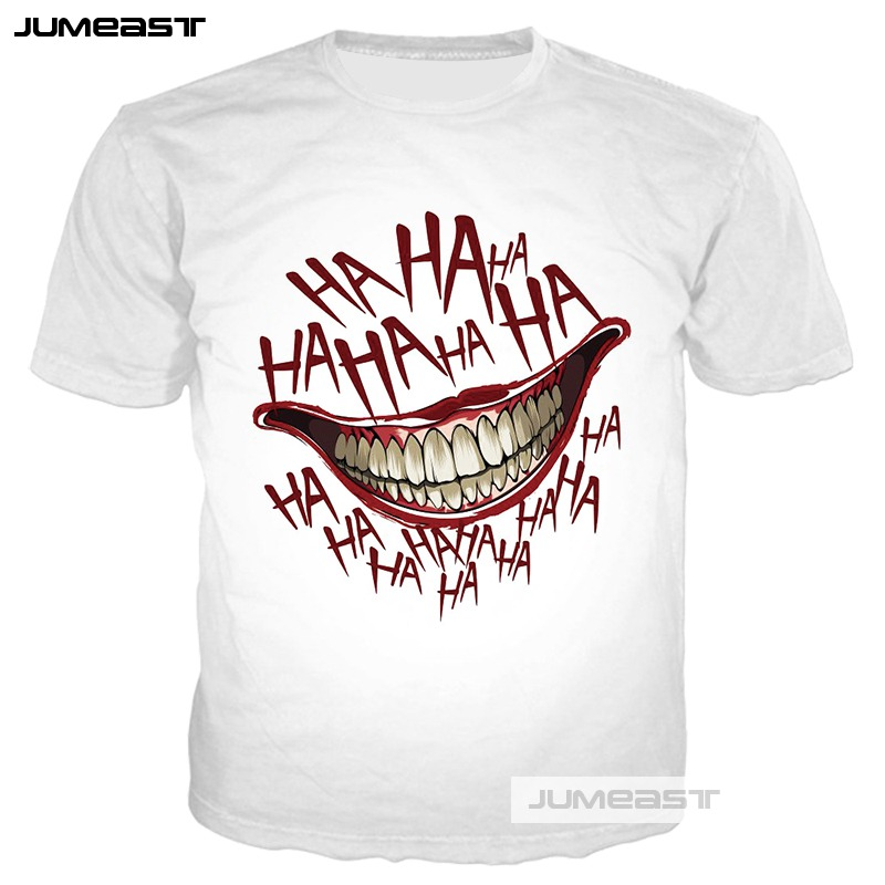 Jumeast New Fashion 3D Printed Why So Serious Men women T Shirts Funny HAHA Joker Summer O neck Short Sleeves Cool Couples in T Shirts from Men 39 s Clothing