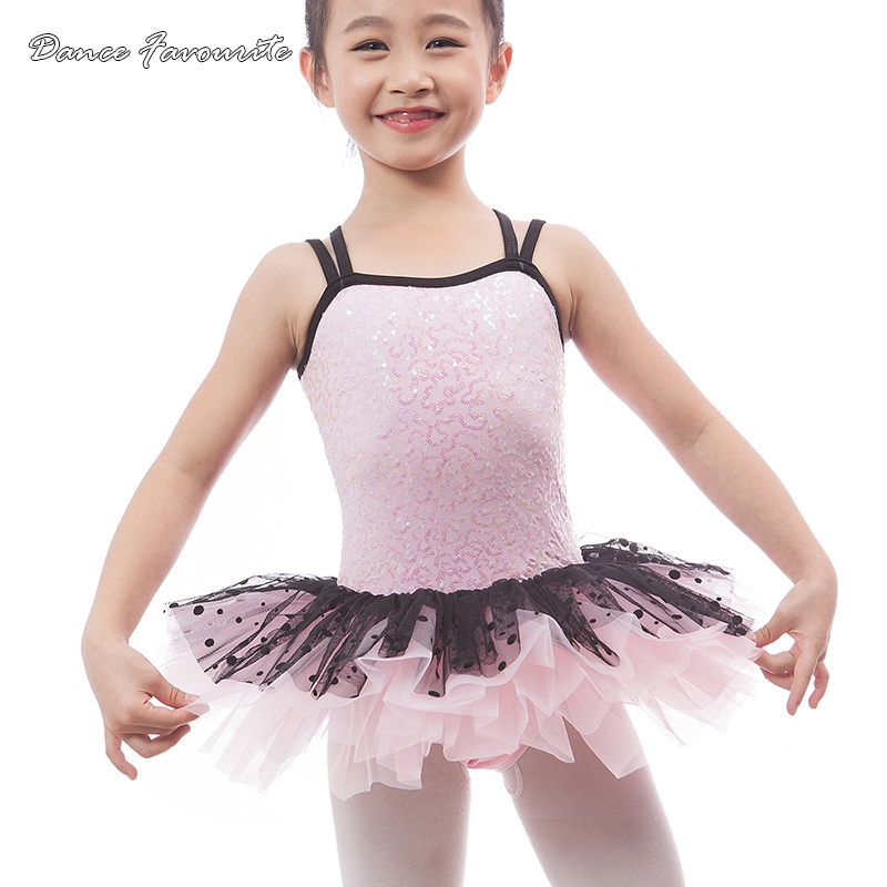 Dance Favourite pink sequin bodice child ballet costume tutu kid stage performance ballet tutu ballerina girl costume tutu