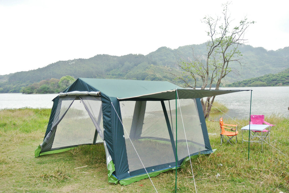 2015 new 6 8 10 12persons outdoor large camping barbecue pergolasun shade awning canopy tent in tents from sports entertainment on aliexpresscom - Large Canopy 2015