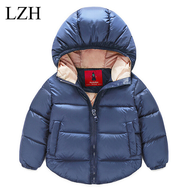 0aa60b61365 Girls Winter Coat Boys Down Jacket for Girls Jacket Pure Color Hooded Kids  Jacket Baby Girls