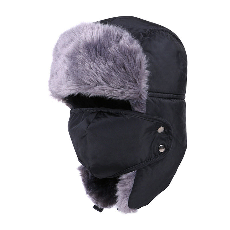 LADUNDI Hats For Men Women Thicken Balaclava Cotton Fur Winter Earflap Keep Warm Caps