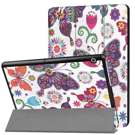 Cas Pour Huawei MediaPad T3 10 AGS-L09 AGS-L03 9.6 pouce Couverture Funda Tablet pour Honor Lecture Pad 2 9.6 Mince flip PU Cas + Film + Stylo