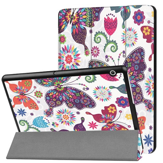 Case For Huawei MediaPad T3 10 AGS-L09 AGS-L03 9.6 inch Cover Funda Tablet for Honor Play Pad 2 9.6 Slim Flip PU Case+Film+Pen