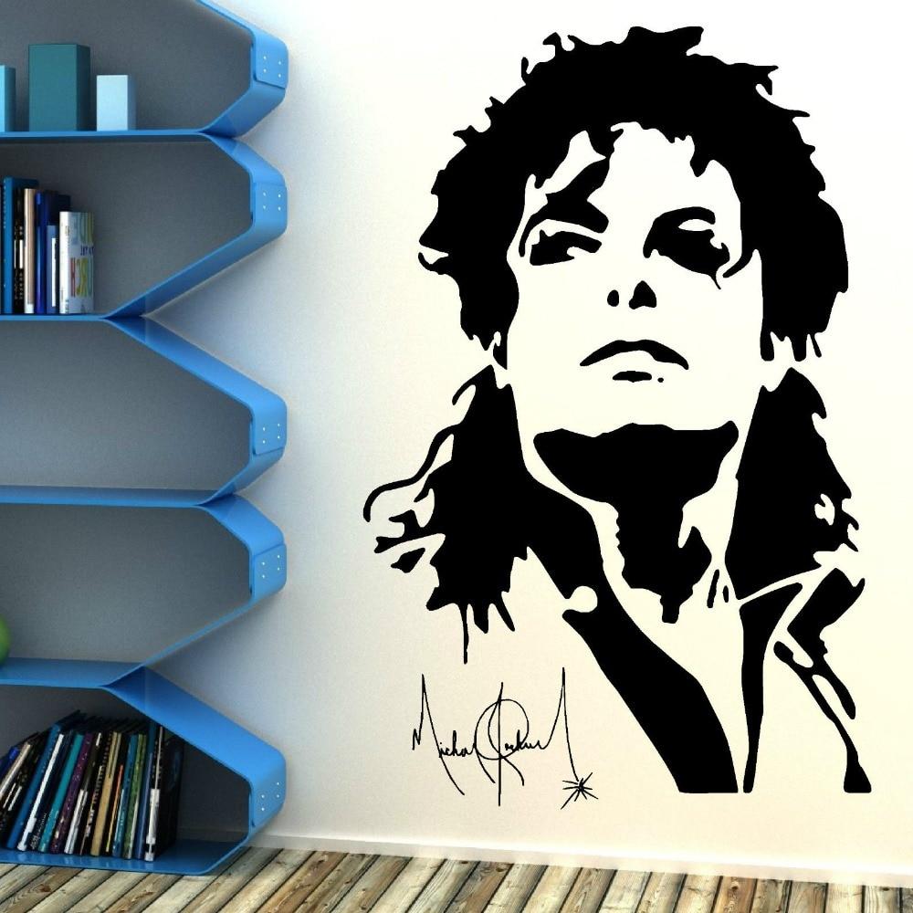 Cool Michael Jackson Silhouette Wall Sticker Viny Lwall