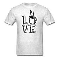 Amor Café Java Lindo Camisas de Ropa de Los Hombres Camiseta 2018 de La Nueva Manera hombres Top Tee Imprimir Camiseta de Manga Corta Para Hombre Superior Caliente Tee