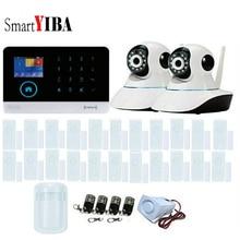 SmartYIBA 3G WCDMA WIFI Home Burglar Touch Screen Alarm Panel Home Security Alarm System Video IP Camera Dutch Spanish French
