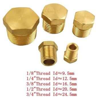 """Conector de tuberías de latón, 1/8 """", 1/4"""", 1/2 """", 3/4"""", macho, rosca BSP, cabeza hexagonal"""