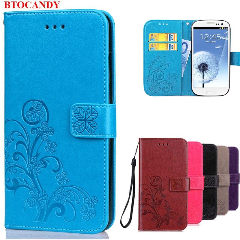 Lyxfodral för Samsung Galaxy S3 Flip Wallet Leather Cover För Samsung S3 Case Galaxy I9300 Neo i9301 Duos i9300i Telefonväska