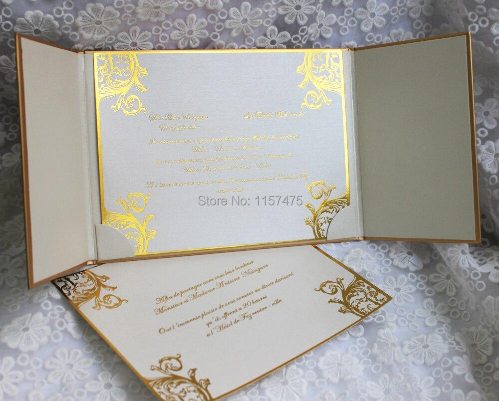 HI1109 Elegant White Hard Cover Wedding Invitation Card with ...