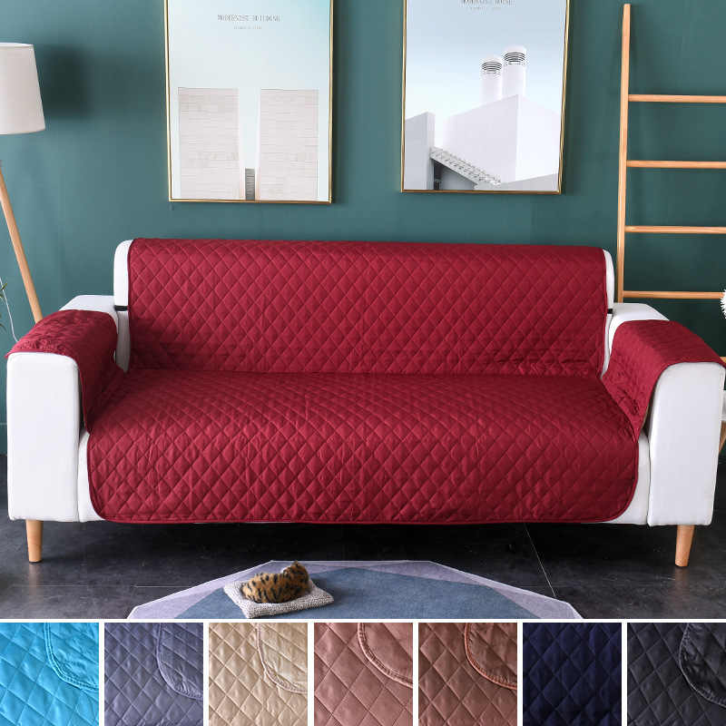 Awesome Waterproof Sofa Cover Pet Slipcovers Reversible Quilting Anti Slip Armrest Covers For Sofas Single Double Three Seat Couch Cover Machost Co Dining Chair Design Ideas Machostcouk