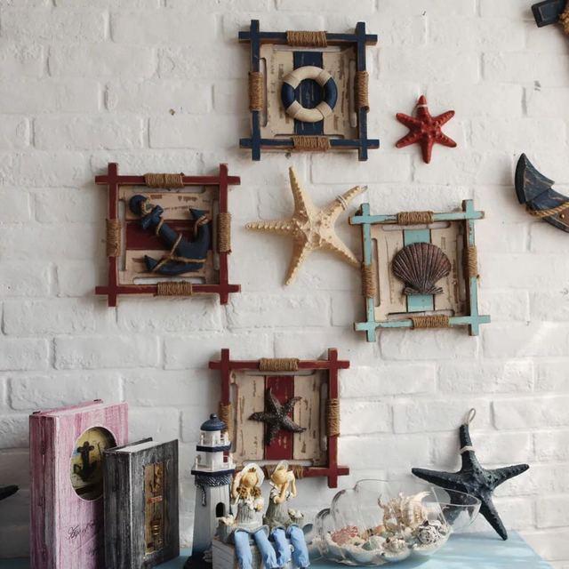 Ordinaire 3D Mediterranean Wood Anchor Wall Hangings Home Nautical Marine Decor Wall  Craft Ship Anchor Hook/