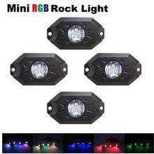 4 шт. х Multi-Цвет rgb led свет рок Наборы с контроллер Bluetooth, Функция времени, музыка режим для автомобилей Грузовик ATV внедорожник