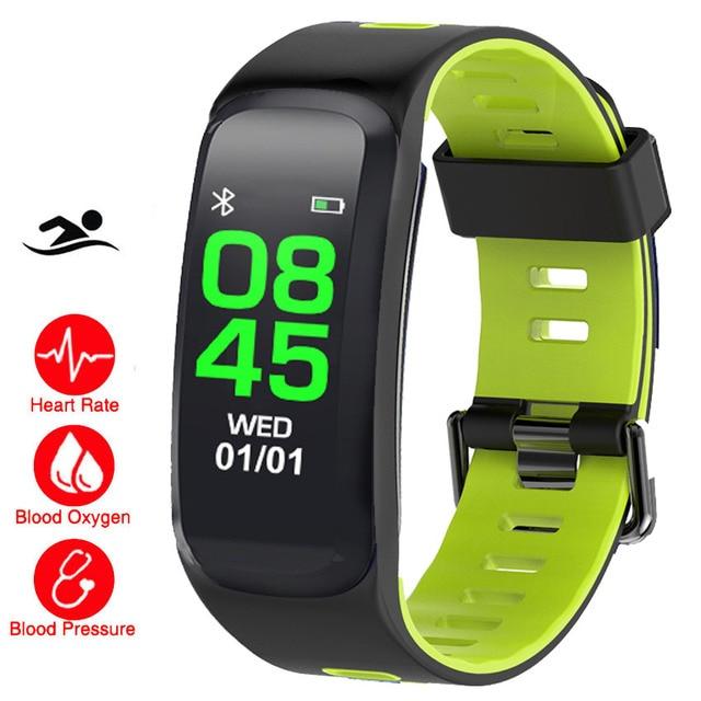 1f4f3e085d3 IP68 Inteligente Pulseira Relógio da Frequência Cardíaca monitor de Pressão  Arterial O2 Aplicativo Monitor GPS Prazo Para IOS Xiao mi  Honor PK mi  Banda ...