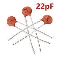 100 x 22pF 50V Low Voltage Radial Ceramic Disc Capacitors
