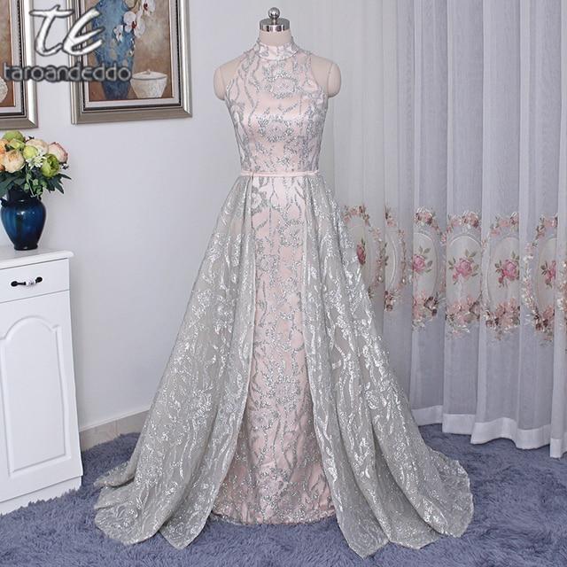 Stehkragen Sleeveless Silber Pailletten Nude Saudi arabien Stil Prom ...