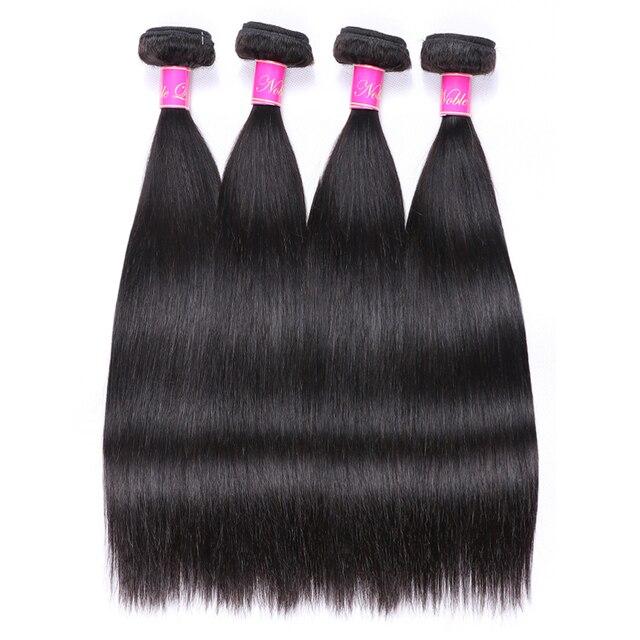 Paquetes de pelo recto Abijale 1/3/4 piezas de tejido de pelo brasileño paquetes de cabello humano no Remy