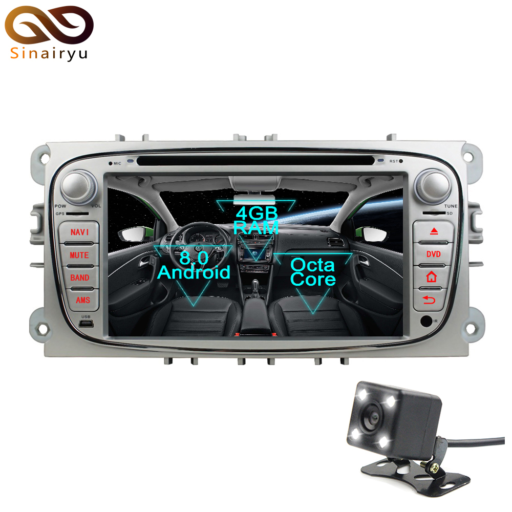 Sinairyu 2 Din Android 8.0 Octa Core Car DVD Player for Ford Focus 2008 2009 2010 GPS Navi Multimedia Radio Stereo Head Unit android 6 0 1 octa core capacitive car pc dvd radio gps for ford focus fusion explorer expedition f150 f500 escape edge mustang