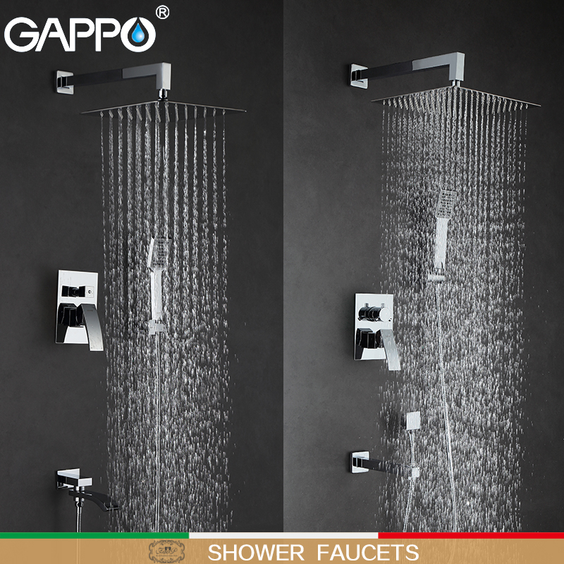 GAPPO Shower Faucets bathroom faucet mixer bathtub taps rainfall shower set wall mounted shower system torneira