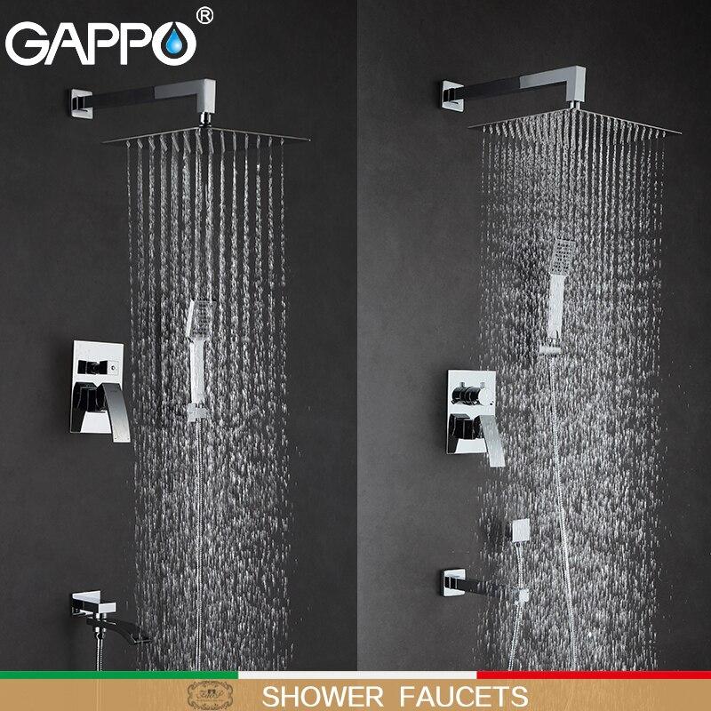 GAPPO robinets de douche salle de bains robinet mitigeur baignoire robinets pluie douche ensemble mural système de douche torneira do chuveiro