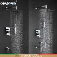 GAPPO Dusche Armaturen bad wasserhahn mischer badewanne wasserhähne regen dusche set wand montiert dusche system torneira tun chuveiro