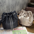 Inleela New Weave Women Shoulder Bag Girls Daily Crossbody Bag Fashion Chains Bucket Gift For your Sister
