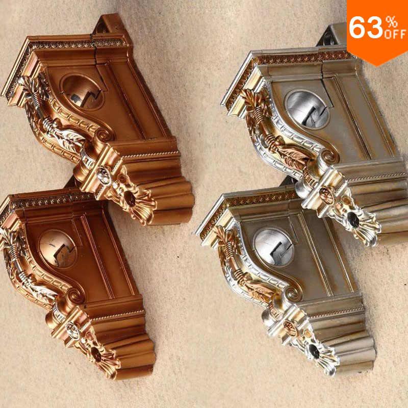 artist room accessories plaster carve roman curtain holder palace baroque rod stick single rod wall bracket curtain rod holder