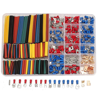 328pcs Heat Shrink Tubing Tube 350pcs Spade Terminals Car Electrical Wire Set With Box