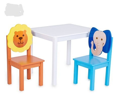 Children Furniture Sets one desk+two chairs sets solid wood kids Furniture sets kids chair and study table sets  60*60*48cm new